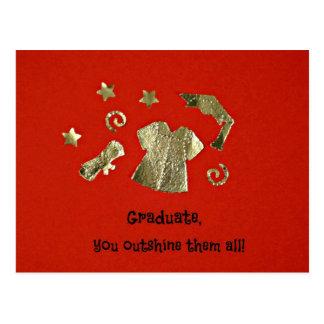 ¡Graduado, usted los eclipsa todos! Postales