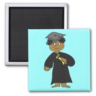 Graduado, varón étnico iman de nevera