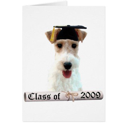 Graduado Wirehaired 09 del fox terrier Tarjeta De Felicitación