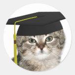 Graduados del gatito etiquetas