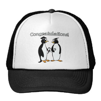 Graduados del pingüino gorros bordados