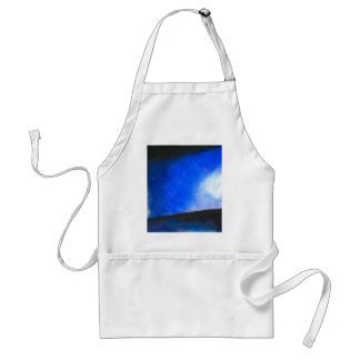 Gradual Blue ( earth symbolism painting ) Adult Apron