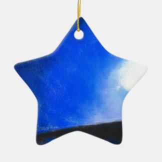 Gradual Blue ( earth symbolism painting ) Ceramic Ornament