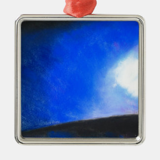 Gradual Blue ( earth symbolism painting ) Metal Ornament