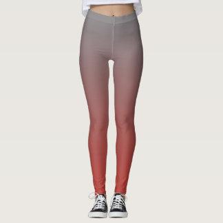 Gradual Grey & Red Leggings