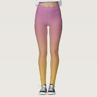 Gradual Purple & Gold Leggings