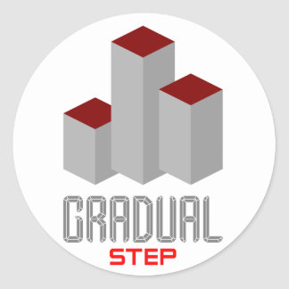 gradual step classic round sticker