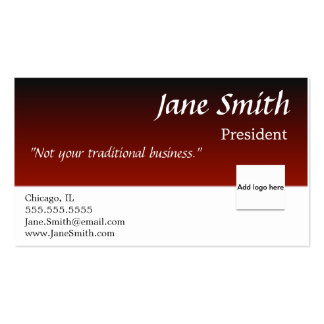 Gradually Fading Red and Black business card