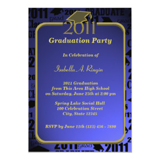Graduatation 2011/ Sapphire Blue Card