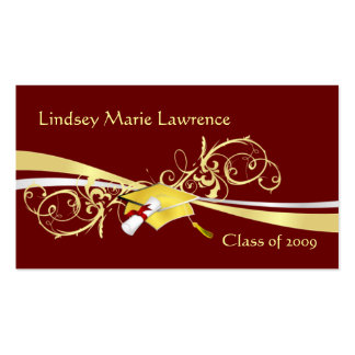 Graduatation Name and Contact Cards Double-Sided Standard Business Cards (Pack Of 100)