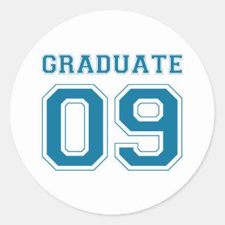 Graduate 2009 - Blue Classic Round Sticker