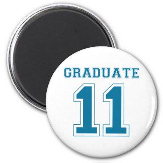 Graduate 2011 - Blue 2 Inch Round Magnet