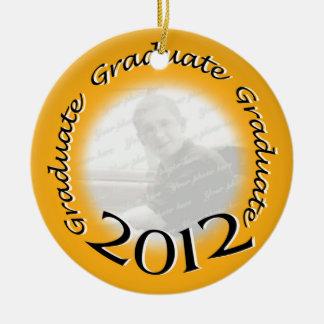 Graduate 2012 Gold Photo Frame Ceramic Ornament