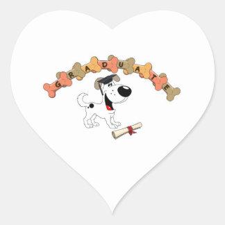 Graduate 2012 heart sticker