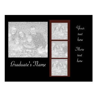 Graduate 4-photo holder invite! postcard