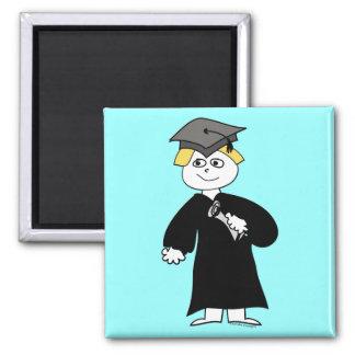 Graduate, Blonde Male Fridge Magnets