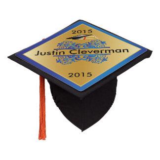 Graduate   Blue and Gold   Personalize Graduation Cap Topper