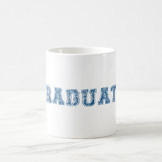 graduate, blue text design for graduation t-shirt coffee mug