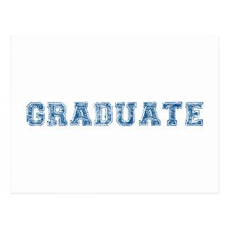graduate, blue text design for graduation t-shirt postcard