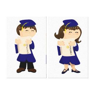 Graduate Boy and Girl Canvas Print