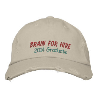 Graduate Cap by SRF - Brain for Hire ! Embroidered Baseball Caps