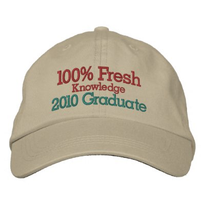 Graduate Cap by SRF - Fresh Knowledge ! Embroidered Baseball Cap