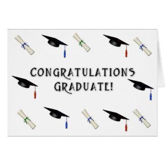 Graduate Cap Diploma Border Cards