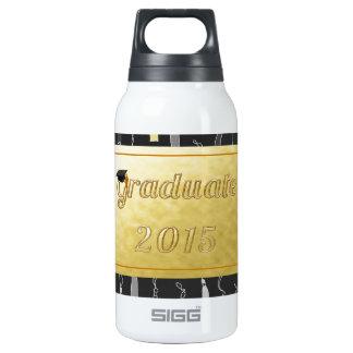 Graduate cap tassel background 2015 thermos bottle