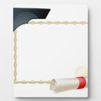 Graduate certificate background display plaque
