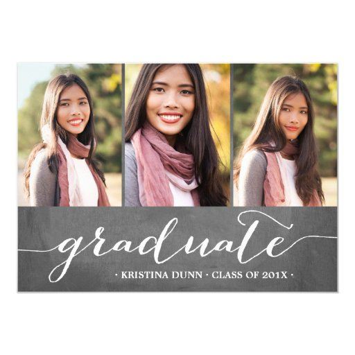 Graduate Chalkboard Photo Collage | Graduation Card