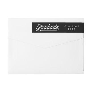 Graduate Chalkboard Script Modern Wrap Around Label