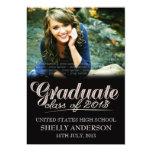 "Graduate Class of 2013 Modern Typography Invite 5"" X 7"" Invitation Card"