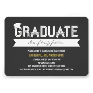 Graduate Class Of 2014 Simple Ribbon Party Invite
