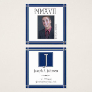 Graduate Class of 2017 ANY COLOR Contact Square Business Card