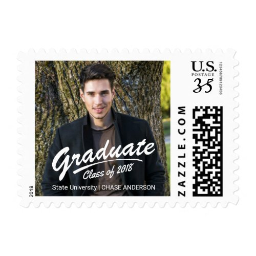 Graduate Class of 2017 Photo Brush Strokes Postage