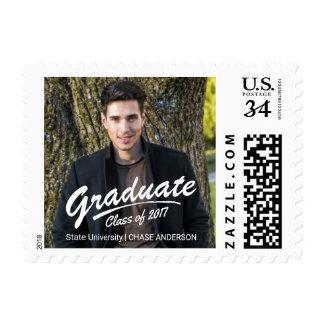 Graduate Class of 2017 Photo Brush Strokes Postage