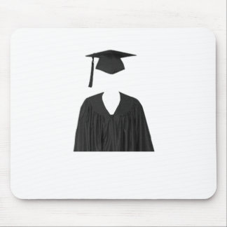 Graduate Class of Cap and Gown Template1 Mouse Pad
