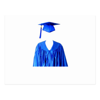 Graduate Class of Cap and Gown Template1 Post Card
