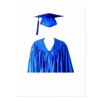 Graduate Class of Cap and Gown Template1 Postcard