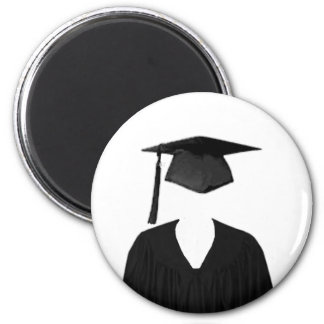 Graduate Class of Cap and Gown Template2 Fridge Magnet