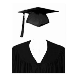 Graduate Class of Cap and Gown Template2 Postcard