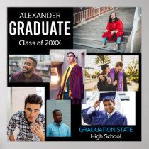 Graduate Class of Custom Photo Collage 5 Poster