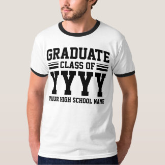 Graduate Class Of (Year & Where Is Customizable) T-Shirt