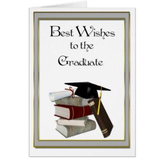 Graduate Congratulations Black Cap Greeting Cards