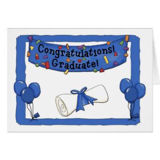 Graduate Congratulations Blue Card