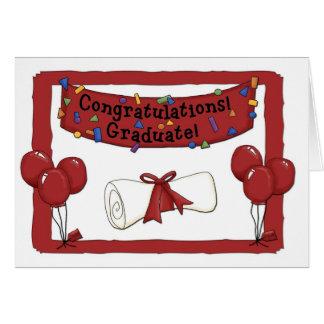 Graduate Congratulations Red Card