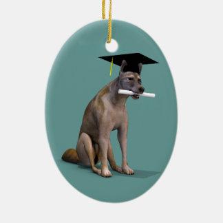 Graduate Coyote Christmas Tree Ornaments