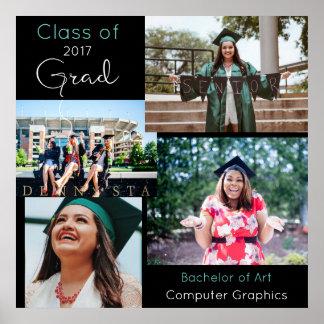 Graduate Custom Photo Collage 2 Poster