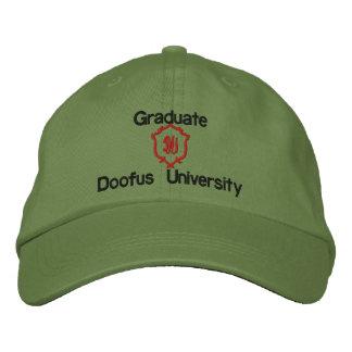 Graduate, Doofus University, DU Embroidered Hats