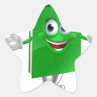 Graduate education book mascot star stickers